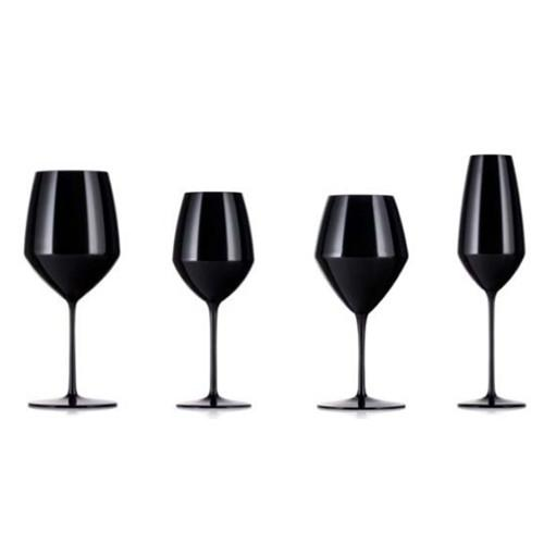 Expert Y Pinot Glasses, Black, Set of 2 by Rogaska 1665