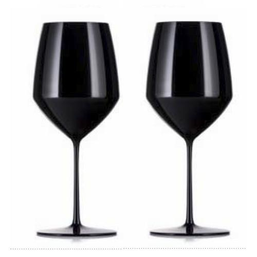 Expert Y Cabernet Glasses, Black, Set of 2 by Rogaska 1665