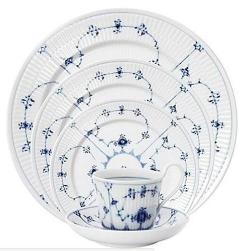 Blue Fluted Plain 5 Piece Place Setting by Royal Copenhagen