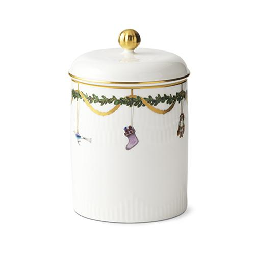 Star Fluted Christmas Annual Lidded Jar or Canister by Royal Copenhagen