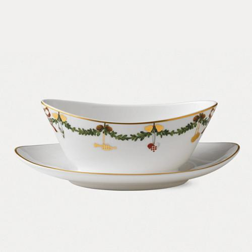 Star Fluted Christmas Gravy Boat by Royal Copenhagen