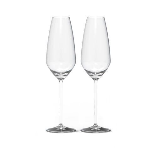 Expert Y Champagne Flutes, Set of 2 by Rogaska 1665