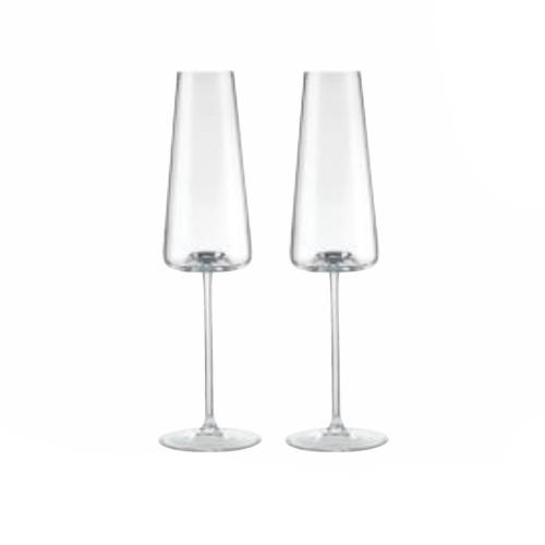Armonia Champagne Flutes, Set of 2 by Rogaska 1665