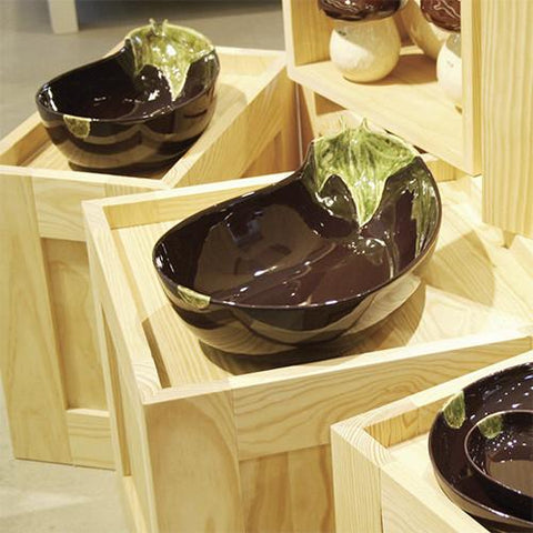 Eggplant Salad Bowl by Bordallo Pinheiro