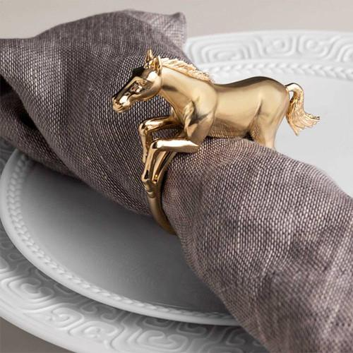 Horse Napkin Jewels Napkin Rings, Set of 4 by L'Objet