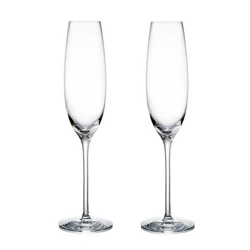 Expert Champagne Flutes, Set of 2 by Rogaska 1665