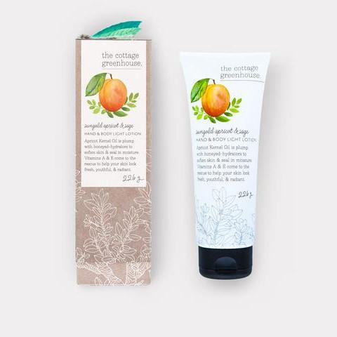 Sungold Apricot & Sage Hand & Body Light Lotion by The Cottage Greenhouse