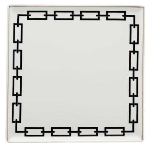 "Catene Vide Poche, Square, 18.25"", Black by Gio Ponti for Richard Ginori"