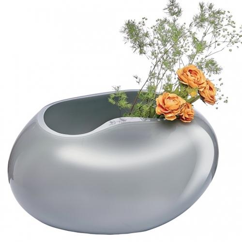 Satin Low Vase by Alejandro Ruiz for Nude