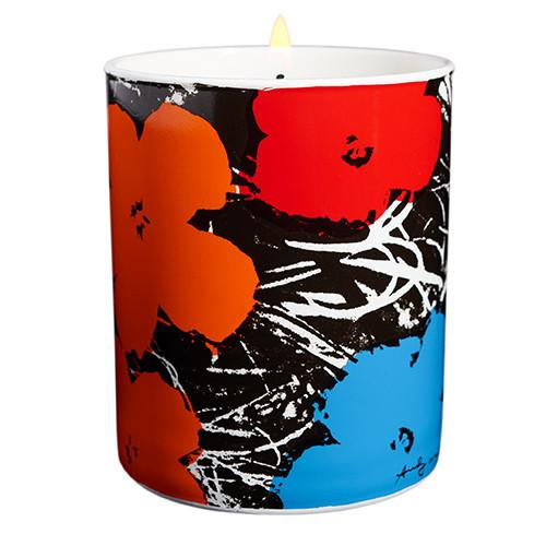 Andy Warhol Flowers Candle by Ligne Blanche Paris