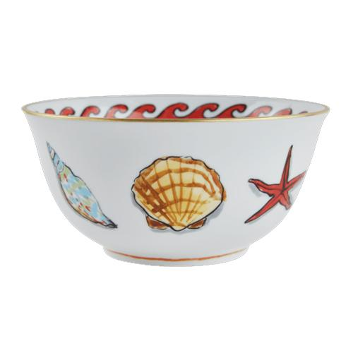 Il Viaggio di Nettuno Large White Bowl by Luke Edward Hall for Richard Ginori