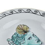 Il Viaggio di Nettuno White Soup Plate Partial by Luke Edward Hall for Richard Ginori