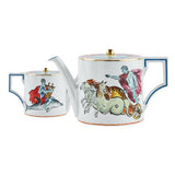 Il Viaggio di Nettuno White Teapot Front & Back by Luke Edward Hall for Richard Ginori