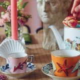 Il Viaggio di Nettuno White Teapot Lifestyle in tea service by Luke Edward Hall for Richard Ginori