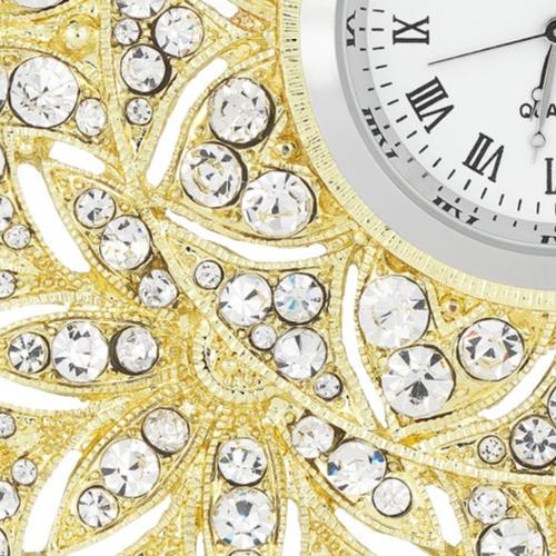 Windsor Desk Clock close up, Gold by Olivia Riegel
