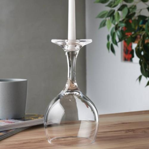 Look Down Wine Glass Candle Holder by Nude