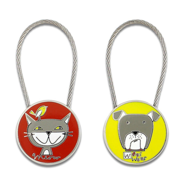 Cats & Dogs Keyring by Nancy Wolff for Acme Studio