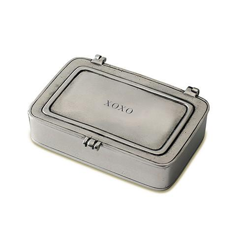 """XOXO"" Box by Match Pewter"