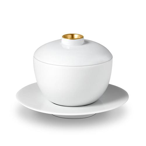 Zen Tea Cup with Lid and Saucer by L'Objet