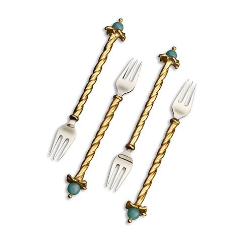 Fortuny Venise Cocktail Forks, Set of 4 by L'Objet
