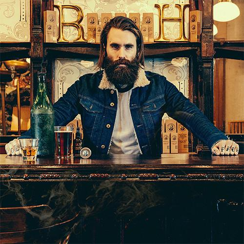 Ricki Hall's Booze and Baccy Moustache Wax by Captain Fawcett's
