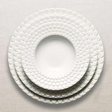 Aegean White RImmed Serving Bowl by L'Objet