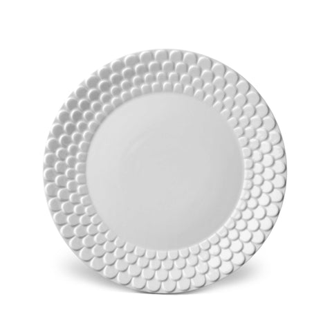Aegean White Dinner Plate by L'Objet
