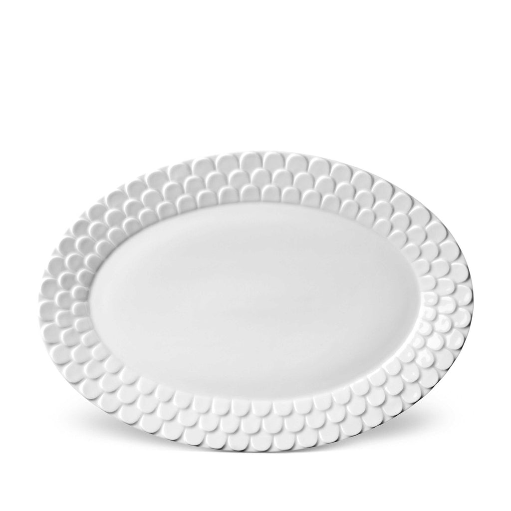 Aegean White Oval Serving Platter by L'Objet