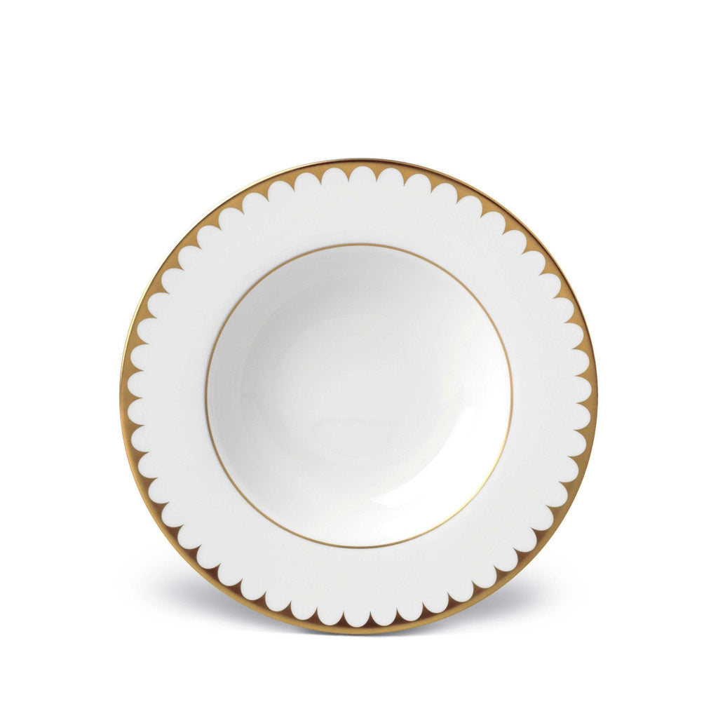 Aegean Filet Gold Soup Plate by L'Objet