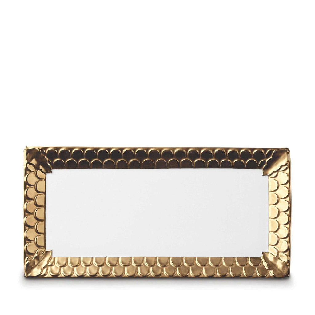 Aegean Gold Rectangular Platter by L'Objet
