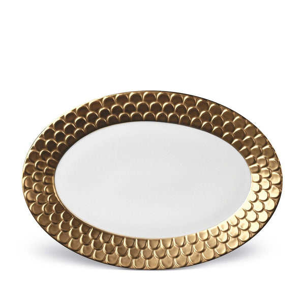 Aegean Gold Oval Platter by L'Objet