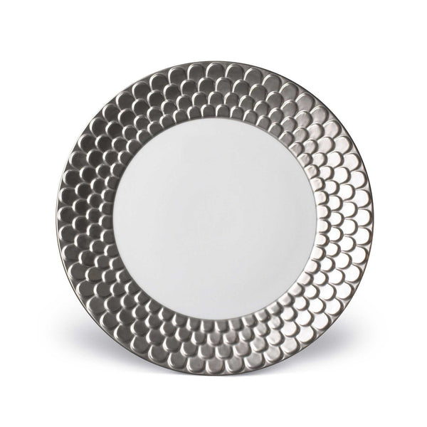 Aegean Platinum Dinner Plate by L'Objet