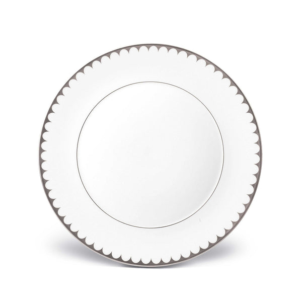 Aegean Filet Platinum Dinner Plate by L'Objet