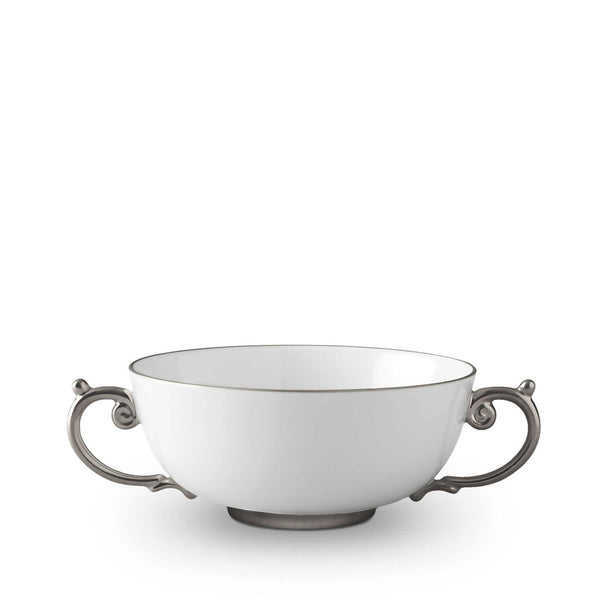 Aegean Platinum Soup Bowl by L'Objet