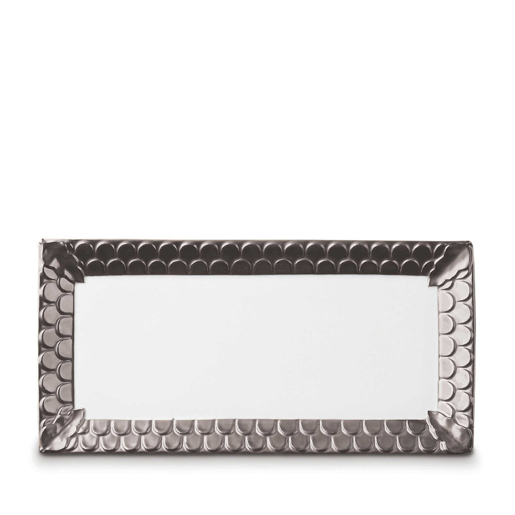 Aegean Platinum Rectangular Serving Platter by L'Objet