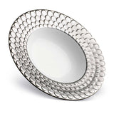 Aegean Platinum Rimmed Serving Bowl by L'Objet