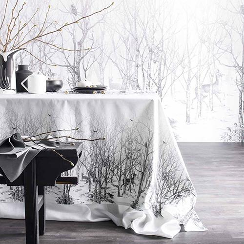 Enchanted Forest Cotton Sateen Table Cloth by Alexandre Turpault