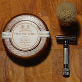 Almond Shaving Soap in Wooden Bowl by D.R. Harris