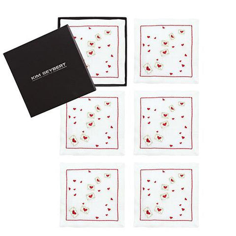 Love Letters Cocktail Napkins, set of 6 by Kim Seybert