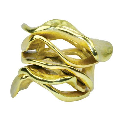 Gold Flux napkin ring