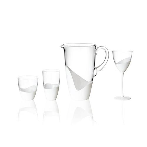 White Vague Double Old Fashioned Glass, set of 4 by Kim Seybert