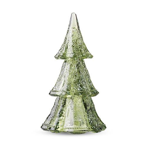 "Berry and Thread 10.5"" 3 Piece Stacking Glass Tree, Evergreen by Juliska"