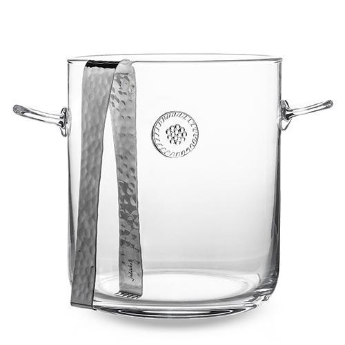 "Berry & Thread 7.5"" Glass Ice Bucket with Tongs by Juliska"