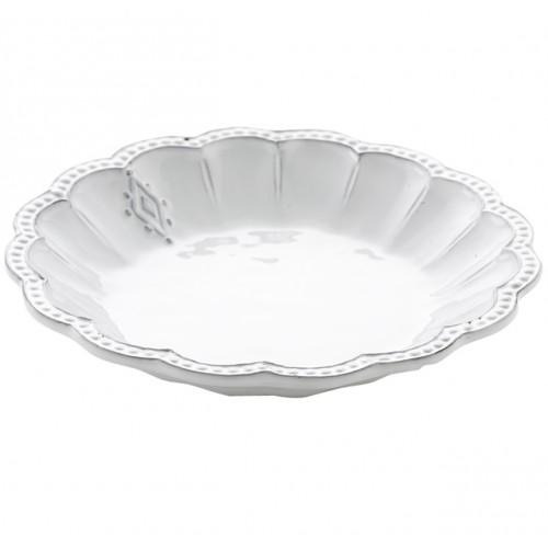 Bella Bianca Medallion Pasta or Soup Bowl by Arte Italica