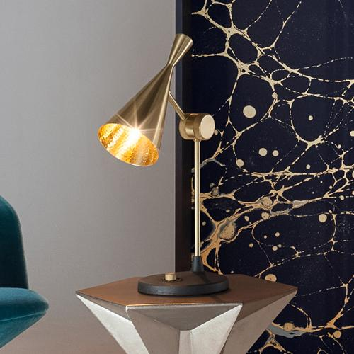 Beat Table Light Brass by Tom Dixon