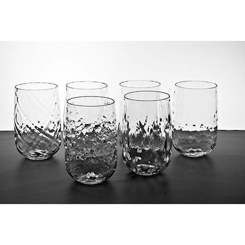 Bei Water Glasses, Set of 6 by Emmanuel Babled for Covo Italy