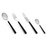Fantasia Black Flatware by Mepra