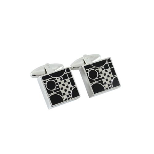 Playhouse Black Cufflinks by Frank Lloyd Wright for Acme Studio