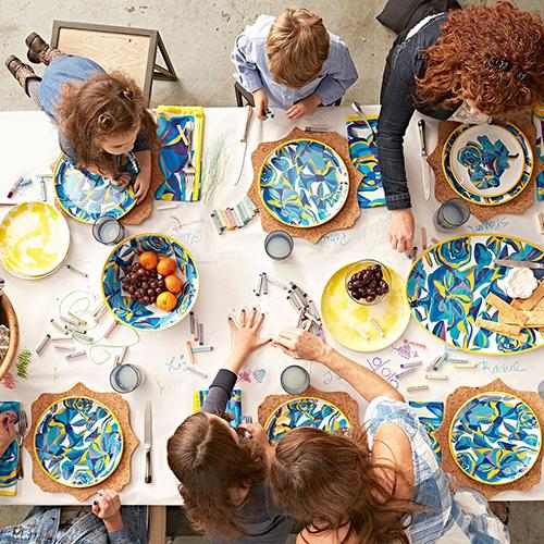 Blue Rose Melamine 11