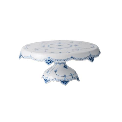 Blue Fluted Half Lace Cake Stand by Royal Copenhagen